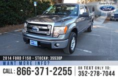 2014 Ford F150 XLT - Supercrew Cab - V8 5.0L Flex Fuel Engine - 4x4 - Remote Keyless Entry - Alloy Wheels - Tinted Windows - Fog Lights - Tow Hooks - Safety Airbags - Seats 6 - Power Windows, Locks & Mirrors - AM/FM/CD/MP3 - SIRIUS Satellite Ready - iPod/Aux/USB/Bluetooth - SYNC by Microsoft - Digital Compass - Outside Temperature Display - Cruise Control and more!