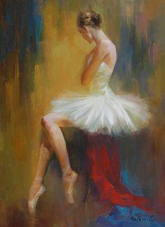 Resultado de imagem para BALLET DANCER OIL PAINTING