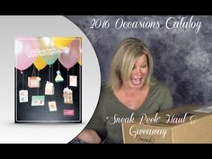 "2016 Stampin Up Occasions & SAB Catalog ""sneak peek"" Haul & Give-away video. Details on blog: www:stampwithtami.com"