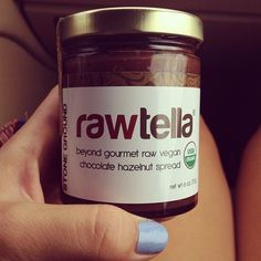 getskinnytipsblog:  Finally, a vegan knock off of the ever so famous Nutella! It's rich in antioxidants, raw and organic, and it's delish! Seriously pick this one up on your next grocery run, ladies :)