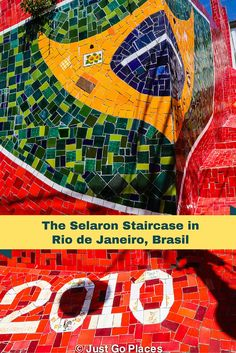 The Selaron Steps in Rio de Janeiro are the work of one local artist and have now become famous internationally.