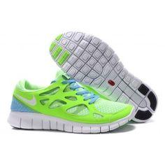 best website 9080f 93e35 Nike Herre Sko Free Run+ 2 Grøn Lysblå Running Shoe Shop, Free Running Shoes ,