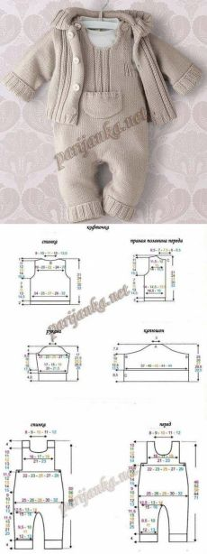 Baby Knitting Patterns Sweaters Kit for a newborn. Diary of … Newborn Crochet Patterns, Baby Boy Knitting Patterns, Baby Hats Knitting, Knitting For Kids, Baby Patterns, Sewing Patterns, Crochet For Boys, Baby Pants, Baby Cardigan