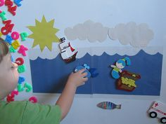 DIY Magnetic Imaginative Play on Dry Erase Board.  Easy to make and lots of fun for the kids!