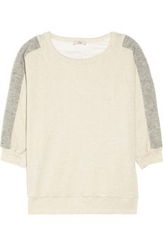 CLU|Two-tone cotton and cashmere-blend sweater|NET-A-PORTER.COM