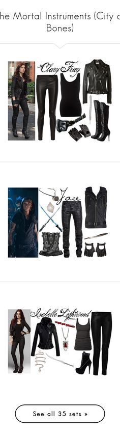 """The Mortal Instruments (City of Bones)"" by darkandfallenangel ❤ liked on Polyvore featuring art, weapons, shadowhunters, mortal instruments, pictures, the mortal instruments, filler, jewelry, necklaces and shadowhunter"
