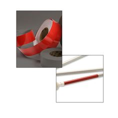 Red Reflective Tape Roll for Ambutech Canes - 50 Yards x 2 Inches - Cane Accessories - MaxiAids