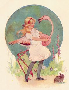 Margaret Tarrant illustration.Alice in Wonderland decor and ready matted book plated print by M.W Tarrant    lb  xxx.