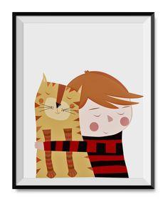 Cat & boy