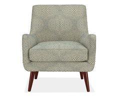 Quinn Chair & Ottoman in Mirror Fabric - Chairs - Living - Room & Board
