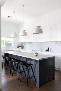 Kitchen Room Design, Modern Kitchen Design, Home Decor Kitchen, Interior Design Kitchen, Home Kitchens, Modern Kitchens, Kitchen Designs, Hamptons Kitchen, House And Home Magazine