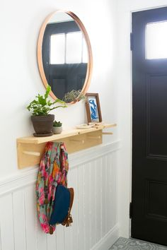 Idle Hands Awake | Minimal DIY Entryway Coat Rack with @Ikea | http://idlehandsawake.com