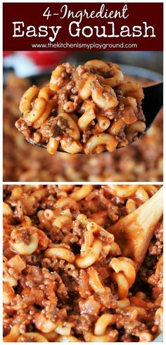 easy comfort food Quick & Easy Goulash ~ Simple, easy, family-friendly, budget-friendly comfort food that just seems to be loved by all. Quick Easy Dinner, Quick Easy Meals, Quick Supper Ideas, Quick Food Ideas, Easy Meal Ideas, Easy Meals For Dinner, Dinner Healthy, Recipes Dinner, Shepherds Pie Rezept