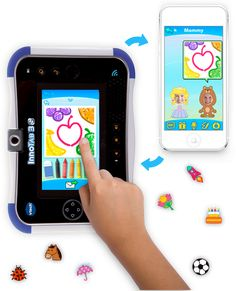 The Kid Connect Premium app offers enhanced VTech Kid Connect features by allowing kids and parents to exchange even more between the InnoTab 3S and smart phones2. With Kid Connect Premium, kids and parents can exchange voice messages, photos, drawings, texts and fun stickers.