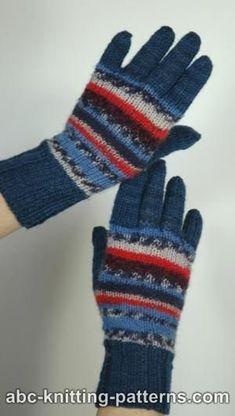 Free Knitting Pattern - Adult Gloves & Mittens: Fair Isle Gloves