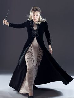 "Helen McCrory as Narcissa Malfoy ----->>> It's like she's saying, ""Bitches, OUT OF THE WAY."""