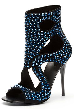 Giuseppe Zanotti Blue Crystal Embellished Ankle Boot Sandal Fall Winter  2010  Shoes  Heels Embellished d2f98aadc11