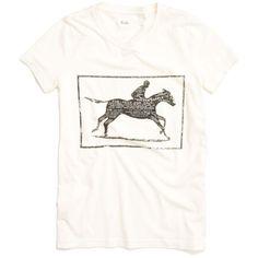 Madewell MADEWELL Horsepower Tee ($38) ❤ liked on Polyvore