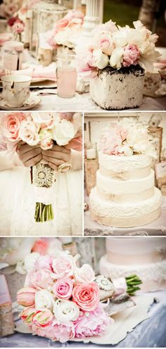 Perfection. The colors, the flowers, the cake... this is exactly what I want for my wedding!!