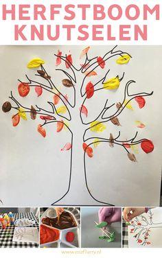 Herfst boom knutselen. Dit knutselwerkje is heel snel voorbereid en leerzaam voor peuters en kleuters. #herfst #knutselen Fall Crafts, Crafts For Kids, Arts And Crafts, Tree Patterns, Finger Painting, Autumn Art, Fall Diy, Infant Activities, Kids Education