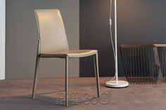 Lagoon Leather Dining Chair by Bonaldo