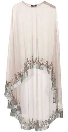 Grey floral beads embroidered cape available only at Pernia's Pop Up… Abaya Fashion, Muslim Fashion, Modest Fashion, Fashion Clothes, Fashion Dresses, Abaya Style, Hijab Style, Hijab Chic, Mode Abaya