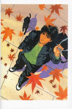 Kaede Rukawa under the falling Kaede leaves. I really treasure the precious private moments of each characters, and appreciate that Sensei had kept it at the reasonable level for not to make it a girl~y manga Manga Comics, Slam Dunk Manga, Inoue Takehiko, Manga Anime, Anime Art, Manga Illustration, Manga Drawing, Pics Art, Slammed