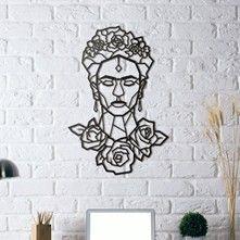 Métal Décor Frida Kahlo - Quadro 45 x 65 cm - nero