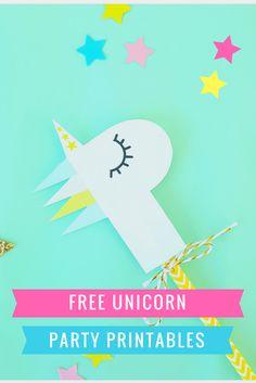 *Free Unicorn Party Printables* Confetti & Balloons