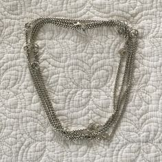 "David Yurman necklace Gorgeous sterling silver authentic David Yurman 70"" signature box link chain. Wear a few different ways, long, doubled, Y, Triple for choker, bracelet. The possibilities are endless!! David Yurman Jewelry Necklaces"