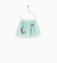 Image 1 of TULLE SKIRT WITH PATCHES from Zara