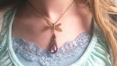 Stunning Dragonfly Drop Necklace with Rare, magical Swarovski short or custom in Jewelry & Watches, Fashion Jewelry, Necklaces & Pendants Dragonfly Necklace, Drop Necklace, Crystal Necklace, Blue Crystals, Stones And Crystals, Swarovski Crystals, Fashion Necklace, Fashion Jewelry, The Violet