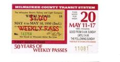 MCTS (with picture of TMERL pass to commemorate 50 tears of weekly passes) (1980)