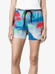 Double Rainbouu Moon Safari Night swim shorts