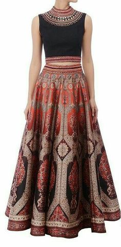 Skirt indian outfit beautiful 18 new Ideas Skirt & croptop Mode Bollywood, Bollywood Fashion, Indian Attire, Indian Wear, Ethnic Fashion, Asian Fashion, Indian Dresses, Indian Outfits, Indian Skirt