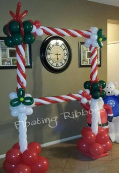 Christmas-themed balloon photo frame