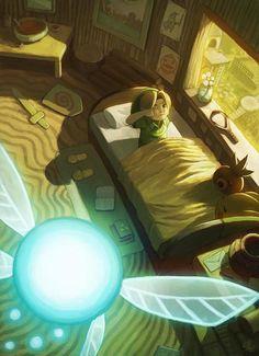 Ocarina of Time: Wake up Link by ry-spirit @deviantart.com #zelda