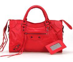 Balenciaga Giant City, Pink Balenciaga, Balenciaga Motorcycle Bag, Sunshine In A Bag, Red Motorcycle, Replica Handbags, Luxury Handbags, Cute Shoes, Leather Bag