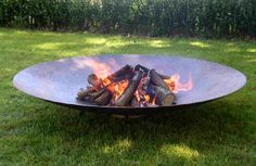 Great Prairie style fire pit, wood burning or gas