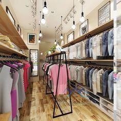 Nội thất được thiết kế đơn giản, nhỏ gọn và thông minh - thiết kế shop thời trang