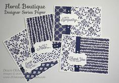 Stampin' Up! Floral Boutique Designer Series Paper cards created by Dawn Olchefske #dostamping