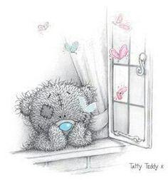 Tatty Teddy thinking.