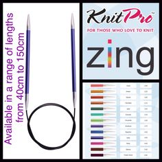ZING Fixed Circular Needles -NEW SIZES Colour matched 2-12mm variety of lengths. Aluminium State of the by MagpieLaneCrafts on Etsy