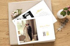 carte de remerciement mariage À pieds joints par l'Atelier Rosemood sur www.rosemood.fr