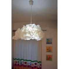 Cloud Lampshade From Ikea Varmluft DIY Home Decor Pinterest - Diy cloud like yarn lampshade