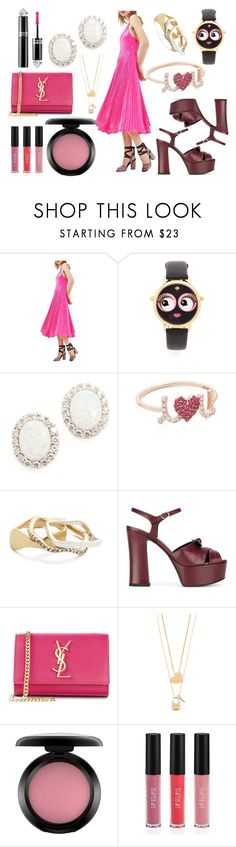 """Love her adorableness"" by hillarymaguire ❤ liked on Polyvore featuring Topshop, Kate Spade, Kenneth Jay Lane, Sydney Evan, Madewell, Yves Saint Laurent, Tory Burch, MAC Cosmetics, Sigma and Guerlain"