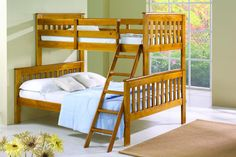 Get the most out of your space with these classic mission twin over full bunk beds with a tilt ladder. These kids beds with storage feature solid pinewood construction in an attractive dark cappuccino