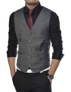 On point ! Formal Men Outfit, Casual Outfits, Men Casual, Fashion Outfits, Homecoming Outfits, Suit Combinations, Mens Suit Vest, Gentleman Style, Wedding Suits