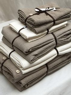 The Rough Linen Bed Makeover includes: 1 Duvet Cover, 1 Flat Sheet, 1 Summer Cover, 2 Simple Pillow Slips, and 2 Pillow Shams.