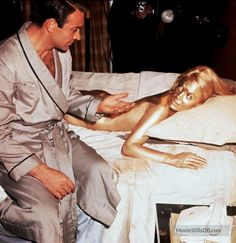 Goldfinger (1964) Sean Connery and Shirley Eaton